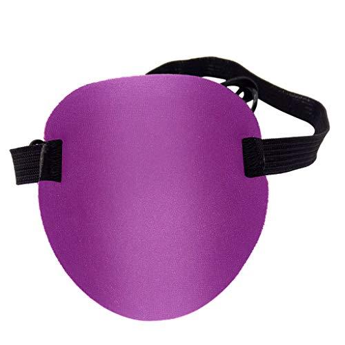 Adh-schaum (Ein-Augen-Piraten-Augenmaske, Webla, Waschbare Schattierungen, Konkave Uk-Rillenschaum-Augenklappe Für Erwachsenen-Kindergürtel, Lila Polyestergewebe (Pp))