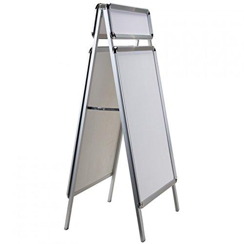 A1 Plakatständer Gehwegaufsteller mit Top-Schild und wetterfesten Folien Beidseitig nutzbar