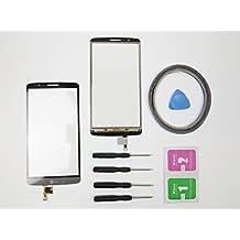 jrlinco nuevo pantalla Scheibe pantalla táctil digitalizador Glass Repuesto para LG Optimus G3D855gris + Herramientas & adhesión + Cleaning Alcohol Wiping Package