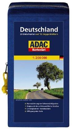 Preisvergleich Produktbild ADAC StraßenKarte Deutschland in Kartentasche: Blatt 1-20 auf 10 Doppelblättern
