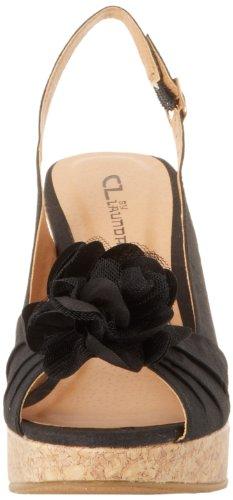 CL By Laundry Ilena-3 Damen Seide Keilabsätze Sandale Black