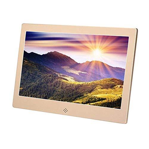 Digital Photo Frame IPS Full HD 12 Zoll 1280 x 800 Display, LED-elektronisches Album Ultra-Thin Metal Case Werbung Machine TV Micro Displays,Gold