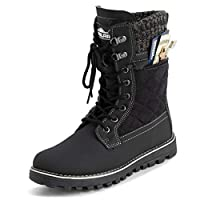 Polar Womens Memory Foam Outside Pocket Inside Zip Thermal Waterproof Deep Tread Rubber Sole Snow Boots