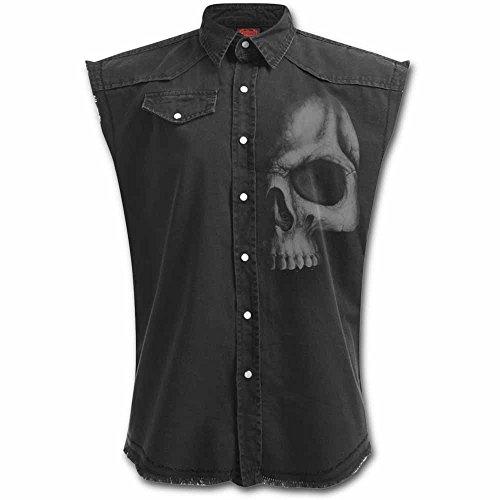 Spiral Shadow Skull Camisa trabajo sin mangas Negro XL
