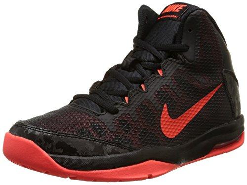 Nike Air Without A Doubt (Gs) Jungen - Schwarz, Orange (Black / Bright Crimson-Hypr Orng)