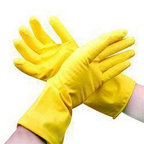 Guantes limpieza antideslizantes amarillos largos