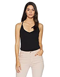 Forever 21 Womens Plain Regular Fit Cotton Shirt (00305606044_0030560604_BLACK_4_)