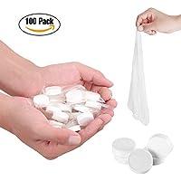 Toallitas comprimidas en pastillas, toallas compactas desechables, portátiles, húmedas, mano, para bebés perros.