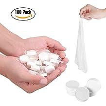 Toallitas comprimidas en pastillas, toallas compactas desechables, portátiles, húmedas, mano, para