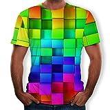 Strungten Top Herren T-Shirt 3D Kreativ Print Kurzarm-Shirt Top Sweatshirt Slim Fit Tops Sweater Männer kurzen Ärmeln Tees Casual Kurzarm T-Shirts O-Neck modernes Blouse Mit Rundhalsausschnitt