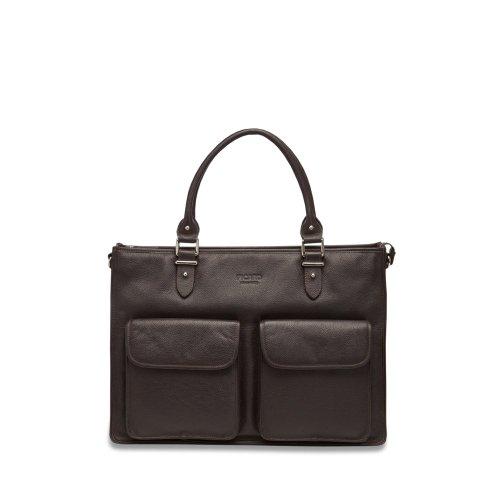 PICARD Busy Damen Business-Bag A4 - Leder - 42x28x10cm Cafe (Dunkelbraun)