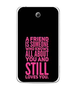Fuson Designer Back Case Cover for Samsung Galaxy Tab 3 (8.0 Inches) T310 T311 T315 LTE (All Still Loves You Friendship College Group School)