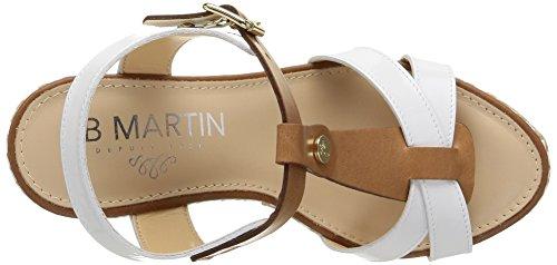 Jb Martin2Ouragan - Sandali Donna Bianco (Blanc (Vver White/V Florida Colonial))