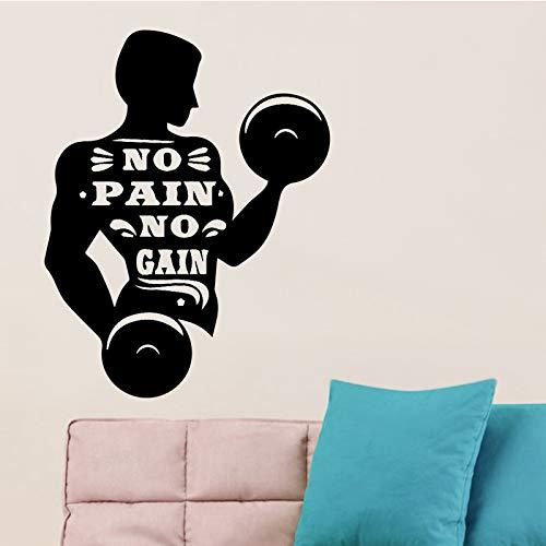 Fitness man etiqueta de la pared decoración del hogar accesorios autoadhesivas pegatinas de pared para sala de estar dormitorio diy vinilo tatuajes de pared 58X74CM