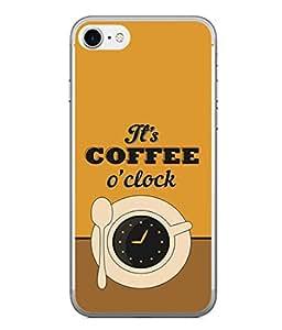 PrintVisa Designer Back Case Cover for Apple iPhone 6S (8 O'Clock Cup Saucer Spoon Black Tea)