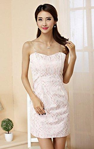 PLAER femmes Sexy Engrener Soutien-gorge machaon robe mariage de demoiselle d'honneur robe soirée de fête cocktail robe rose pâle