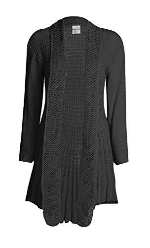 Fast Fashion Frauen Wolljackestrickjacke Lange Ärmel Plain Crochet Gestrickt Wasserfall