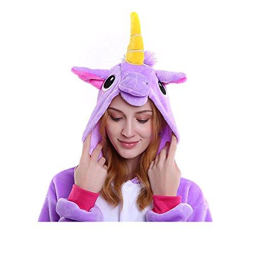 Dolce Unicorno Pigiama Design unico Animal partito costumi Evento Dress Festival per adulti e bambini Viola