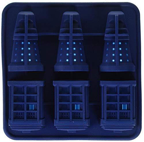 Froiny Silikon-EIS-Würfel-Behälter Tardis & Daleks, Blau