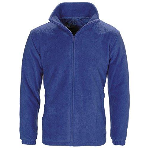 Myshoestore, giacca unisex in morbido micropile caldo invernale, anti pelucchi, stile casual per attività sportive e outdoor, colore nero, taglia S-3XL Blue