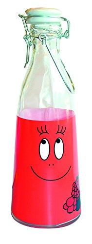 Barbapapa - große Retro Glas Milchkanne - Barbawum Rot.verpackt in einer stabilen Geschenkbox!