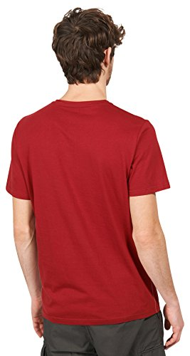TOM TAILOR Herren T-Shirt mit Vintage-Print rot (red 4454) ...