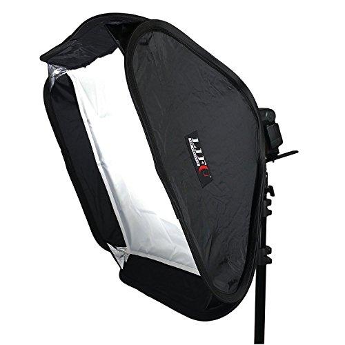 Portable Softbox 60x60cm Life of Photo faltbar mit L-Form Blitzhalterung für Aufsteckblitz