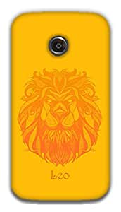 The Racoon Grip Leo hard plastic printed back case / cover for Moto E