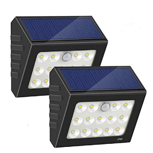 Luz Solar Exterior,14 LED Foco Solar Exterior Gran