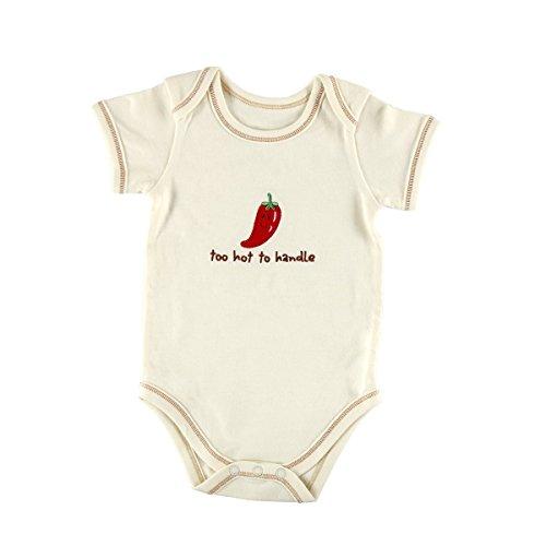 Hudson Babybody mit Aufschrift Touched by Nature Hudson, 100% Bio-Baumwolle beige pepper 3-6 Monate -