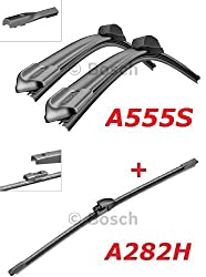 Bosch Scheibenwischer Set Front.- und Heckwischer - Aerotwin A555S Längen: 600/400mm (3397007555) und A282H Länge: 280mm (3397008634)