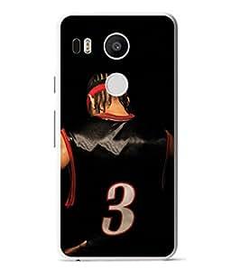 PrintVisa Designer Back Case Cover for LG Nexus 5X :: LG Google Nexus 5X New (Jersey Number Three Player Design In Black)