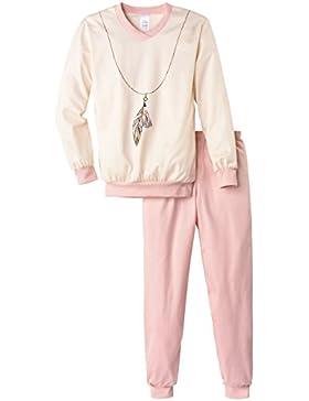 Calida Mädchen Zweiteiliger Schlafanzug Pyjama Bündchen Feather Queen