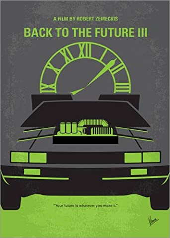 Poster 70 x 100 cm: No183 My Back to the Future minimal movie poster part III de chungkong - reproduction haut de gamme, nouveau poster