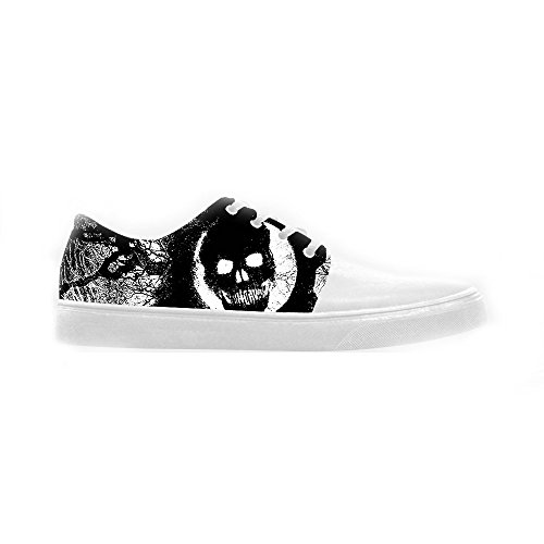 dalliy Cool Skull Womens Canvas Shoes Chaussures Footwear Sneakers Shoes Chaussures D