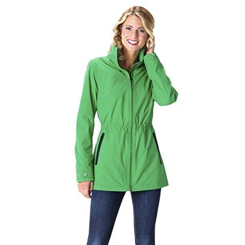 HappyRainyDays - Veste de pluie, 100 % imperméable et coupe-vent, pour femme Vert (smaragd)