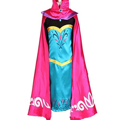 Kosplay Mädchen Prinzessin Kostüm Eiskönigin Kleid für Mädchen -