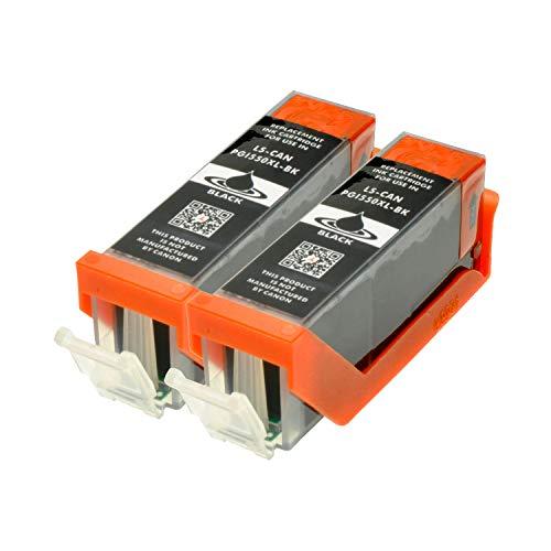 2 Druckerpatronen für Canon PGI-550BK XL IP-7250 8750 IX-6850 MG-5450 5550 6350 6450 7150 MX-725 925