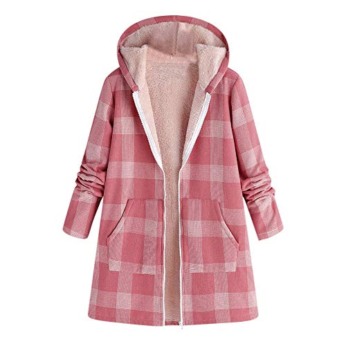 MIRRAY Damen Winter Mantel Warm Outwear Taste Kariert -