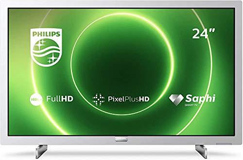 Oferta de Philips 24PFS6855/12 Televisor 24 pulgadas LED ,Full HD, HDR 10, Pixel Plus HD, Smart TV, DTS-HD, HDMI,modelo 2020/2021, Plateado claro , 60 cm