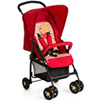 Hauck Sport - Silla de paseo ligera y practica para bebes de 0 meses hasta 15 kg, sistema de arnés de 5 puntos, respaldo reclinable, plegable