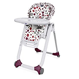 Chicco Polly Progres5 Seggiolone Pappa Regolabile per Bambini 0 Mesi - 3 Anni (15 kg), Trasformabile in Rialzo Sedia…
