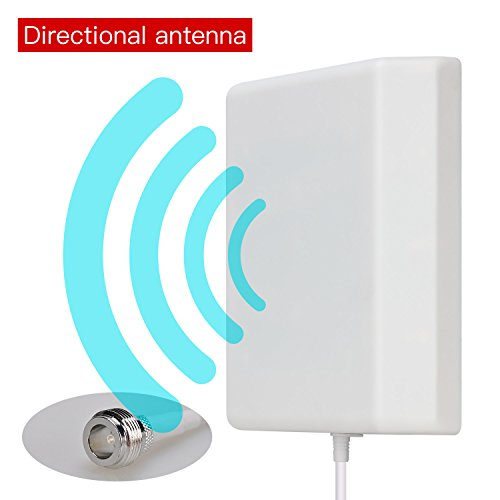 Lysignal Outdoor/Indoor Wall Mount Directional Panel Antenna 698 to 2700MHz 9dBi for Mobile Signal Booster Panel-antenne