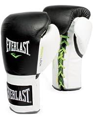 Everlast adultos Caja Artículo 2270Power Lock Fight Gloves Lace Up, todo el año, unisex, color Negro - negro, tamaño 10