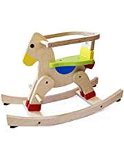 Shumee Wooden Rocking Horse- Balance & Coordination Skills, 1 Year