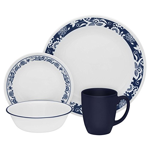 corelle-service-de-table-pour-4-personnes-16-pieces-en-verre-vitrelle-motif-ressiatant-bleu