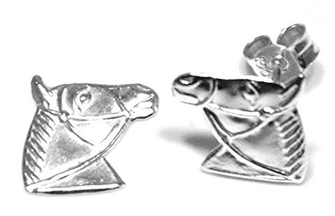 Arranview Jewellery Clous d'oreille pour enfant en forme de tête de cheval Argent Sterling 925