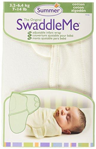 Summer Infant 73184 SwaddleMe Ganzkörper Pucksack - 100 Prozent Baumwolle, natur