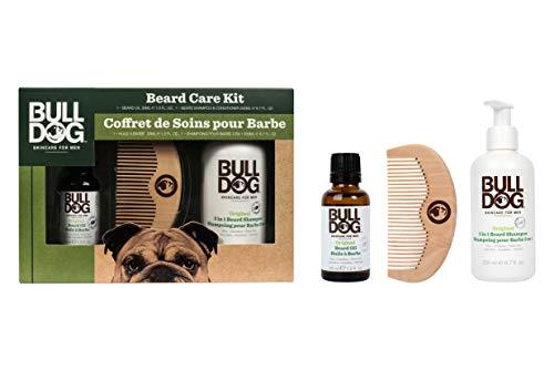 BullDog Kit cuidado barba color blanco-Lote 2