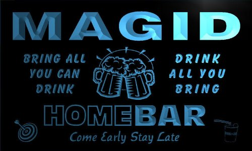 q27796-b-magid-family-name-home-bar-beer-mug-cheers-neon-light-sign